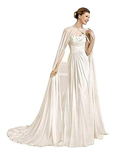 2M blanco largo de gasa de la boda chal novia capa nupcial dama novia novia manto