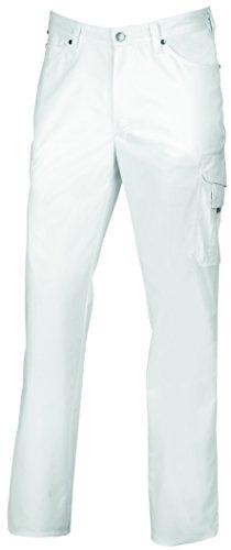 clinicfashion 12027005 Jeans Arzthose Herren weiß, Normalgröße, Mischgewebe Stretch, Größe 62