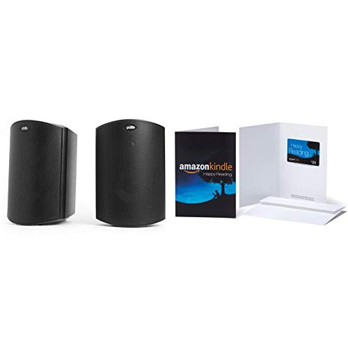 Polk Audio Atrium 4 Outdoor Speakers(Pair, Black)with Amazon.com $25 Kindle Gift Card in a Greeting Card