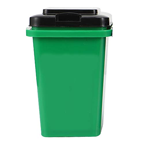 DIFFLIFE 2020 New Style Pen and Pencil Holder, Plastic Pen Cup, Mini Desktop Trash Can, Desktop Pen Organizer Cup Storage for Office, School, Home and Kids, Green, Model: cys20191008hy