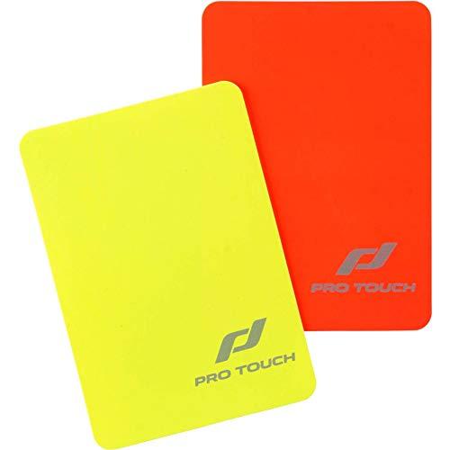 Pro Touch–Juego de Tarjetas de árbitro Tarjetas de árbitro, Color Rojo/Amarillo, Talla única