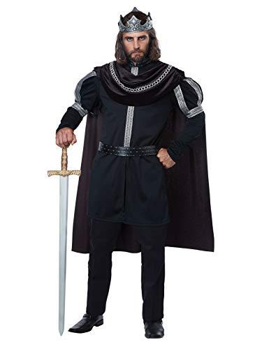 California Costumes Men's Dark Monarch-Adult Costume, Black/Silver, Large
