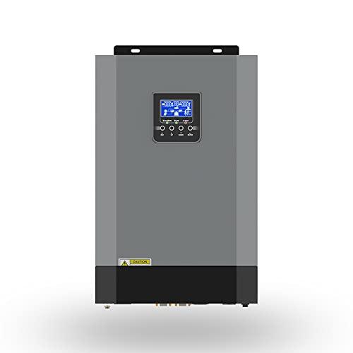 Y&H Inversor híbrido,5.5KW Inversor híbrido solar 48V MPPT 110A 500VDC Entrada PV 220VAC...