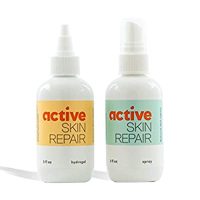 Active Skin Repair – The Natural & Non-Toxic Healing Ointment & Antiseptic Spray for Minor Cuts, Wounds, Scrapes, Rashes, Sunburns, and Other Skin Irritations (Bundle, Combo, 3 oz Each)