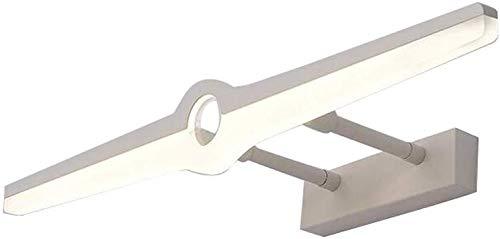 Spiegelvoorlamp, LED-spiegelkast, make-uplamp, free punching, badkamer, make-uptafel, lamp, rollsnownow, kleur: zwart, maat: 40 cm
