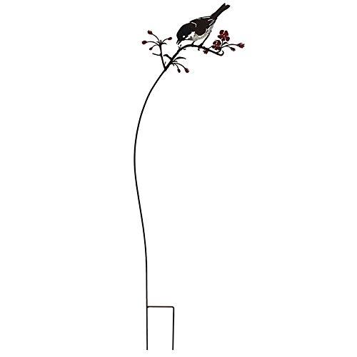 La Grande Prairie Tuteur Oiseau sur Branche 20x93 cm