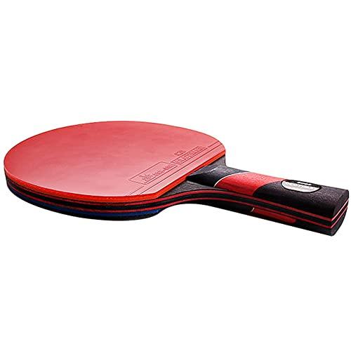 LINGOSHUN Raquetas de Tenis de Mesa,Mango Acampanado,Juego de Paleta de Ping-Pong con Goma Aprobada por la ITTF para Entrenamiento en Torneos / 1 Pack/Long handle