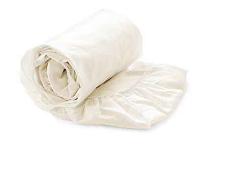 Heckett Lane Perkal Uni Hoeslaken Topper 90x210-220+12 cm - Off-White