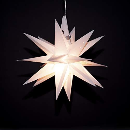 Oldenburger Himmelsstern (inkl. Beleuchtung) 3D Ministern by Sterne vom Himmel (weiß mit Löchern)