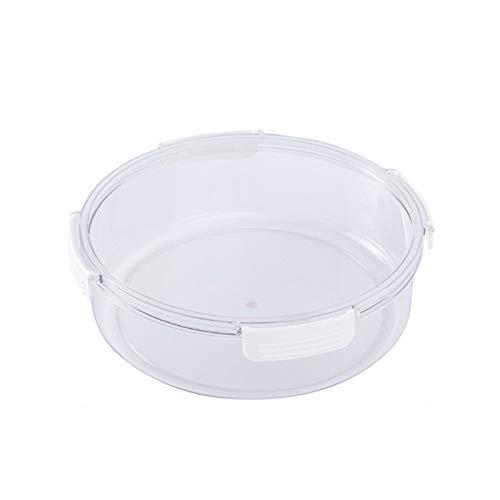 YUMEIGE Kosmetische Aufbewahrungsbox Kühlschrank-Speisenkasten, Küchenlager-Behälter für Gemüse- und Fruchtsalat, Gefrierfach mit Deckel (Color : Round, Size : No Separation)