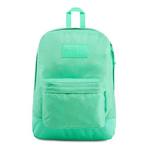 JanSport Mono SuperBreak Backpack - Monochrome Trend Collection Laptop Bag, Tropical Teal
