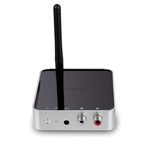 DIGMALL de Largo Alcance 328pies Bluetooth v 5.0 transmisor de Audio Receptor para TV/Altavoz, Digital óptico RCA AUX Adaptador inalámbrico, Certificado apt-x HD & apt-x Baja latencia, Doble Flujo