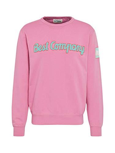 BEST COMPANY Herren Sweatshirt Crew Neck Classic pink M