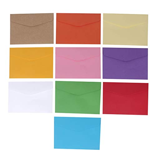 SUPVOX 60 piezas sobres de papel de papel mini tarjeta de regalo sobre titular de la tarjeta de regalo sobres de tarjetas de visita (color mixto 10)