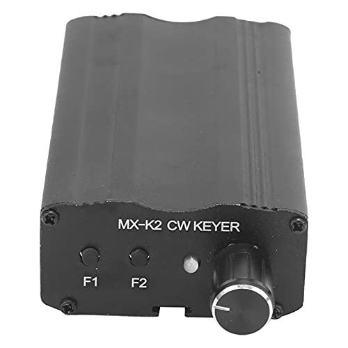 MX-K2 Transmisor Manipulador de Código Morse de Onda Corta CW Paddle Keyer Controlador de Llave de Memoria Automática Transceptor Automático para Amplificador de Radio para Amplificador de Radio Contr