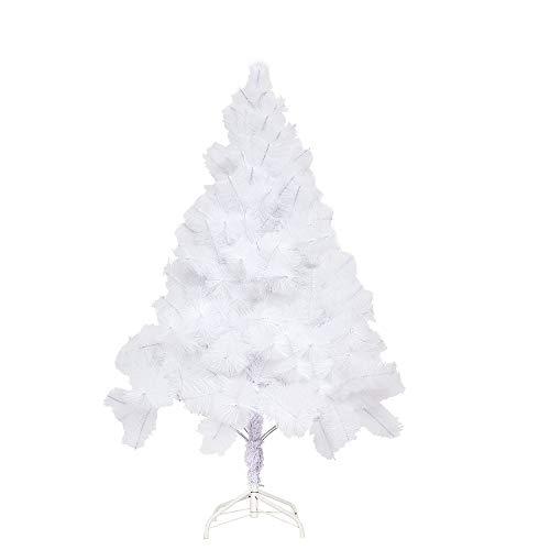 Aufun Weihnachtsbaum Künstlich 180cm Künstlicher Weinachts Baum Deko Tannenbaum Weiß Tannennadeln mit Metallständer Weihnachtsdeko