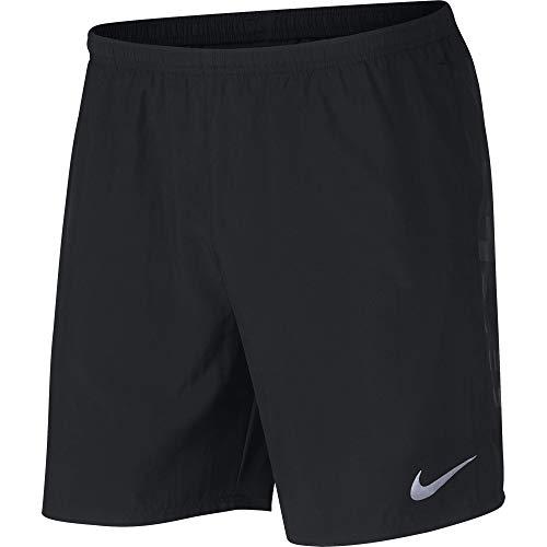 Nike Herren Run Shorts, Black/Reflective Silver, M