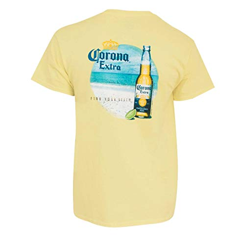 Corona Extra Find Your Beach Men's Tee Shirt X-Large Yellow