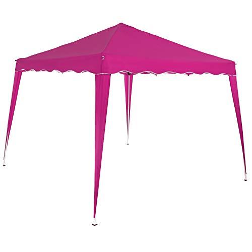 Deuba Pavillon 3x3m Pink Wasserdicht Inkl Tasche Faltpavillon Capri UV-Schutz 50+ Partyzelt Gartenpavillon Pop Up Zelt Fest