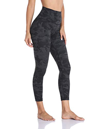 "Hawthorn Athletic High Waisted Yoga Leggings for Women, Buttery Soft Pattern Workout Pants Compression 7/8 Length Leggings with Pockets Camo Grey_25"" S(4/6)"