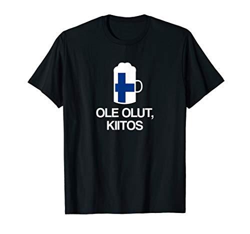 (Ein) Bier bitte auf Finnisch Finnland Bier T-Shirt