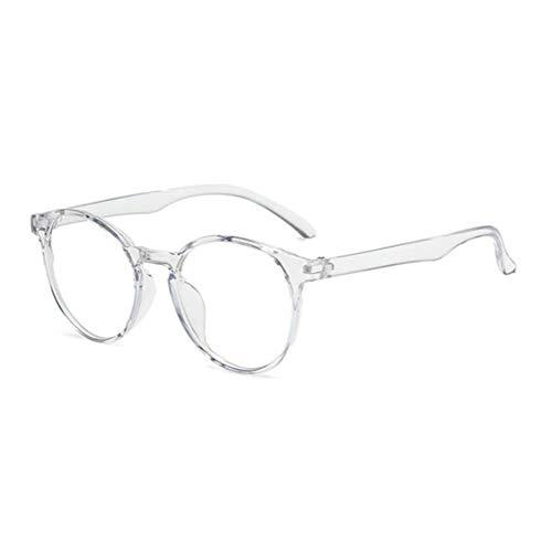 NMSLL Blaulicht-Blockierbrillenrahmen, Spielbrillen Computer-Anti-Ermüdungsbrillenrahmen für Männer und Frauen Gris transparent