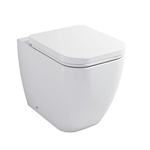 Sanitari bagno Vaso WC filomuro a terra con coprivaso sedile softclose Legend