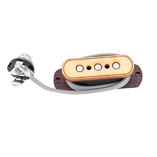 Bnineteenteam Gitarren Tonabnehmer Vorverdrahtet 3 Saiten Tonabnehmer Eingangsbuchse 6,35mm Akustischer Elektrischer Wandler Ersatzteile Ersatz für Zigarrenbox Gitarre