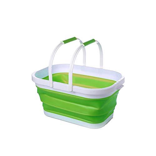 BANGSUN Cesta de la compra de 10 l retráctil plegable cubo de cocina vegetal