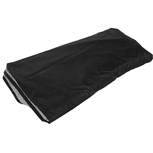 ffu Cubierta De Sofá, Cubierta De Sofá En Forma De U Negro, Polvo E Impermeable Tapa Protectora para Exteriores 321x155x76 / 86cm