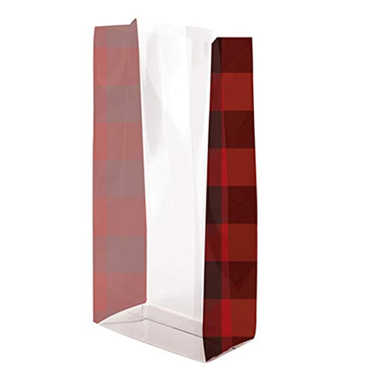 Buffalo Plaid Cello Treat Bags - 7.5 x 3.5 x 2in. (20)