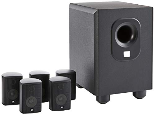 Leviton AEH50-BL Architectural Edition Powered By JBL 5-Channel Surround Sound Home Cinema Speaker System, Black