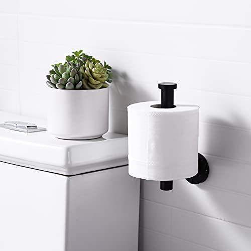 KES Toilet Paper Holder Bathroom Tissue Holder Paper Roll SUS 304 Stainless Steel Wall Mount Matt Black, A2175S12-BK