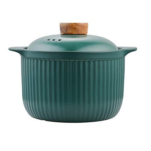 WZHZJ Cerámica Sopa de Olla de cerámica cazuela de Sopa de Hogares Pot Llama Crisol de guisado Resistente al Calor Panamericana de la Salud Utensilios de Cocina