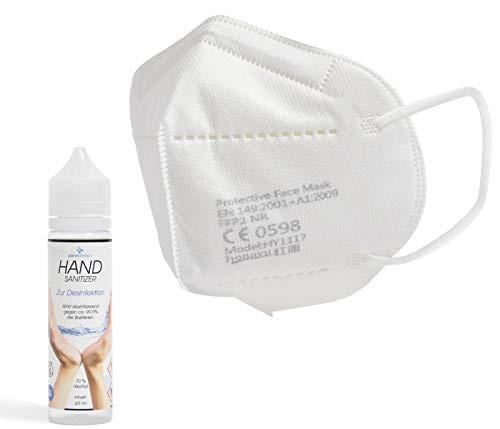 Premium Mundschutz Atemschutzmasken zertifizierte FFP2 Masken Infektionsschutz Gesichtsmaske Staubschutz Schutzmaske (20 Stück) - 8