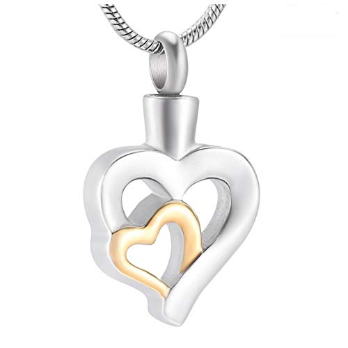 Wxcvz Jewellery Urn Necklace Lovers Heart Cremation Jewelry&Urn Necklace Pendants,Wholesale Stainless Steel Funeral Jewelry For Pet/Human Ashes