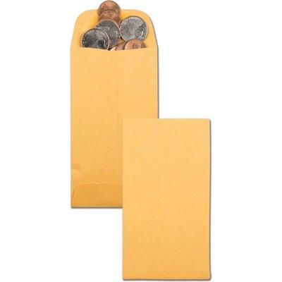 2.87quot; x 5.25quot; No. 5 Kraft Coin/Small Parts Envelope (500 Envelopes/Box) - BOS-QUA50462