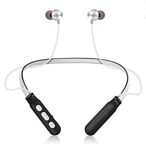 Yowablo Bluetooth Kopfhörer Kabellos HD Stereo Wireless Headset Sport Ohrhörer mit Mikrofon Kompatibel iPhone iPad &Android Bluetooth-Gerät ( Silber )