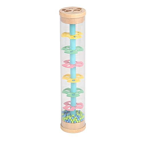 MIORIO Instrument de Son de Cylindre de bébé Rainmaker avec SoundToys de bâton de Pluie de Couleur vive pour bébé Enfant en Bas âge