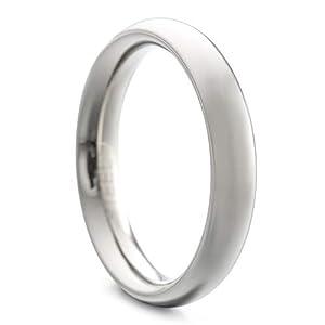 Heideman Ring Damen und Herren Paari aus Edelstahl Silber Farben poliert oder matt Damenring für Frauen und Männer Partnerringe 4mm breit schmaler gewölbter Ring hr7021_P