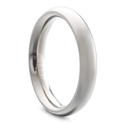 Heideman Ring Damen und Herren Paari aus Edelstahl silber farben poliert oder matt Damenring für Frauen und Männer Partnerringe 4mm breit schmaler gewölbter Ring silberfarben poliert Gr.70 hr7021-3-70
