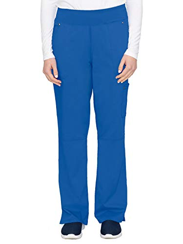 healing hands 9133 Women's Tori Yoga Waistband Scrub Pant Royal 2XL
