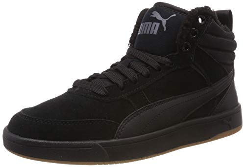 Puma Herren Rebound Street V2 SD FUR Hohe Sneaker, Schwarz Black Black-Iron Gate 01, 46 EU
