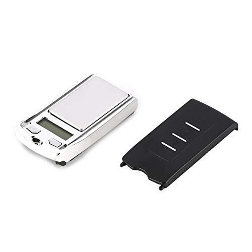 Ba30DEllylelly Mini balanza Digital de Bolsillo 200g 0.01g Precisión g/DWT/CT Medición de Peso para Cocina Joyería Farmacia Pesaje de Tara