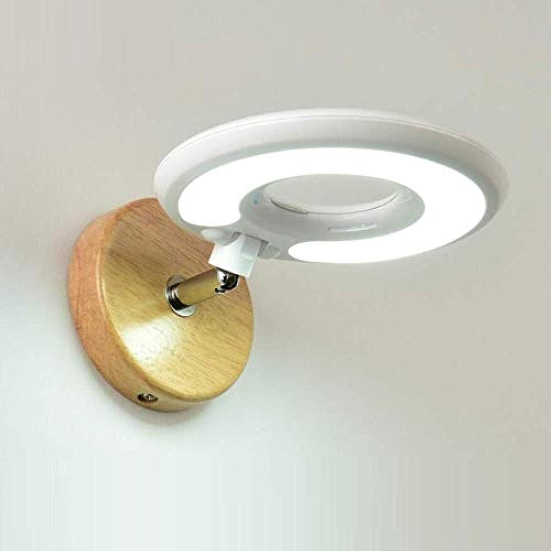 OwentsWall Lamp Creative Led Wandleuchte Modern Minimalist Fashion Weiß Nachttischlampe Schlafzimmer Korridor Wohnzimmer mit Schalter Lesewandleuchte