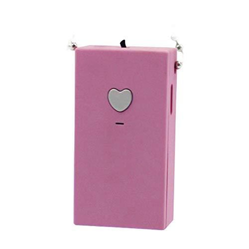 Purificador de aire portátil de protección de filtro de aire collar de coche ionizador de cuello ambientador con USB para niños, purificador de aire portátil de viaje de alto rendimiento personal