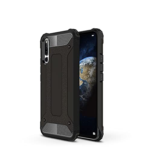 ZHIWEI Das tragbare Handy Tasche Schutzhülle für Huawei Honor Magic 2 Hülle, TPU + PC Stoßfänger Dual Layer Stoßdämpfe Hybridschutz Robustes Fall (Color : Black)