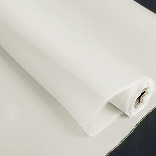 Silk Organza Fabric 5mm 140cm Width No.39 Color Ivory White Sell by The Yard DIY Handmade
