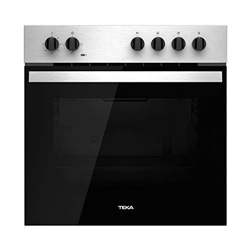 Teka Horno Polivalente Convencional | Modelo HBE 435 ME | 3 Funciones de cocinado | Acero Inoxidable Antihuella | Eficiencia Energética A | 60 cm | Color Negro, 2593 W, 72 litros