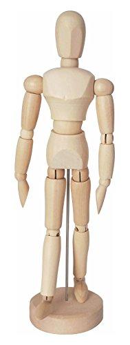 Kreul 4157 - Solo Goya Modellpuppe aus Holz, unisex, ca. 20 cm groß, mit verstellbaren Gliedmaßen auf stabilem Standfuß, ideal als Vorlage zum Zeichnen